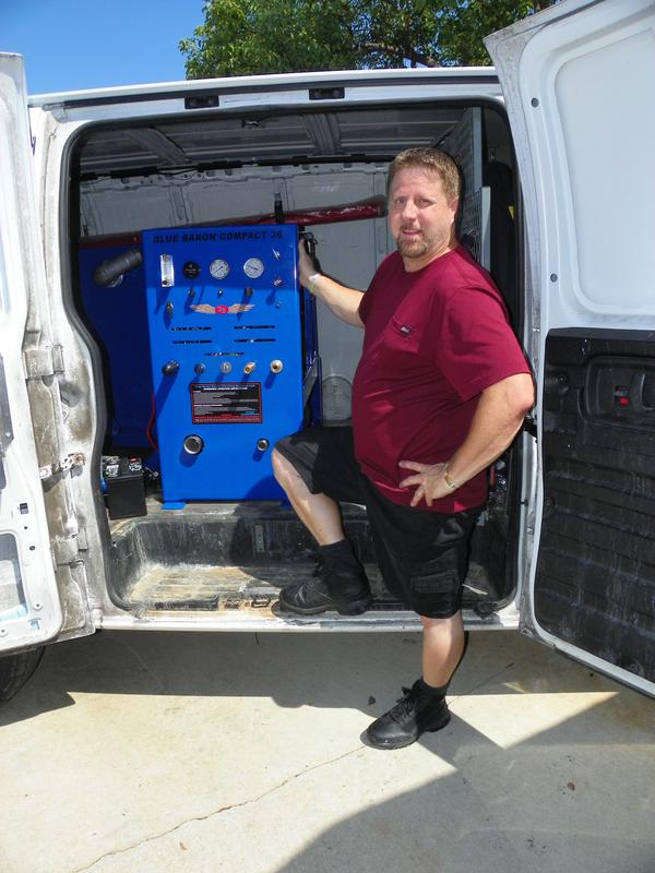 Blue Baron Compact 36 installed and Van